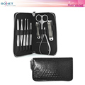 BMS0410 9pcs Stainless Steel High Quality Fashion Grooming Case Travel Manicure Set