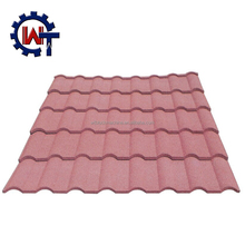 Colorful Stone Chips Coated Metal Roof Tiles Price Hot sell in Kenya