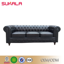 sukala factory wholesale chesterfield leather 3 seater sofa