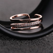 Factory direct sale latest stone ring design zircon micro inlay fashion trend multi-layer ring for rings jewelry women