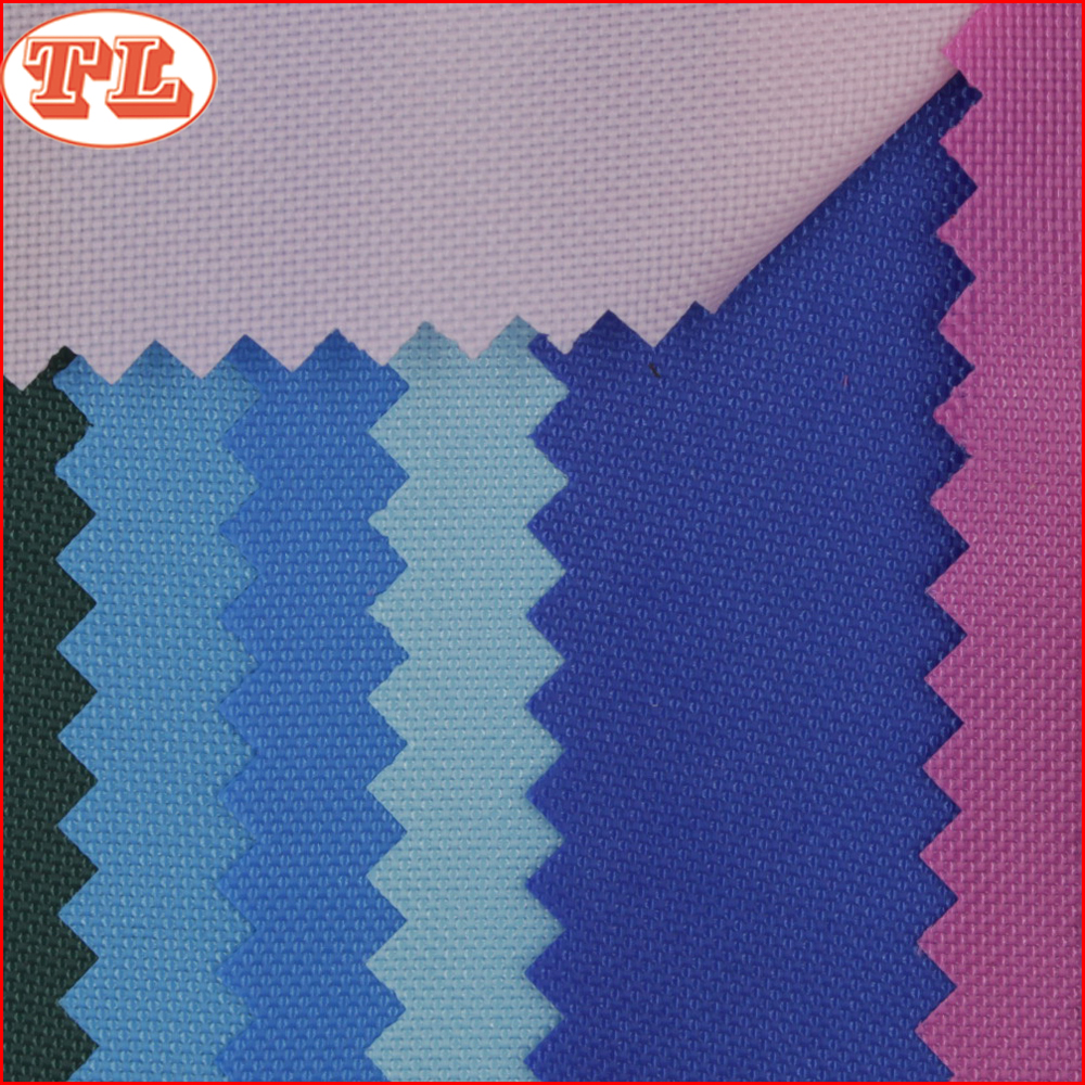 100% polyester 420D oxford polyester fabric with pu coated for tents bags
