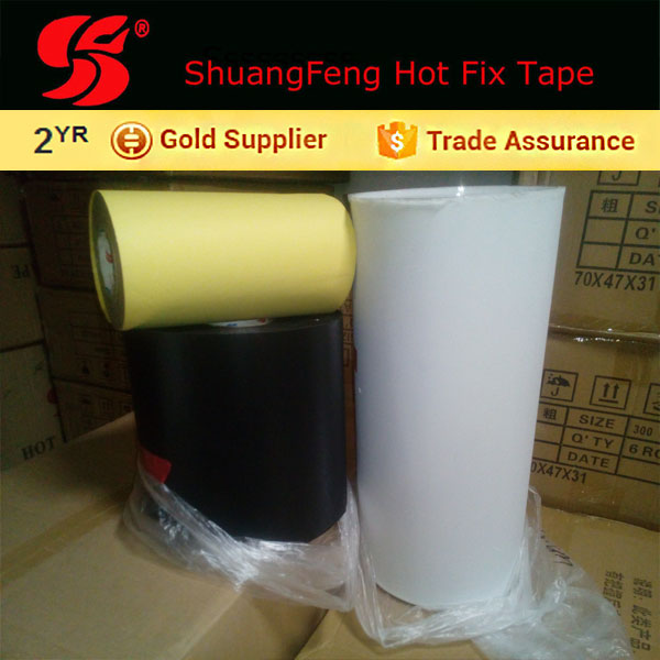 hotfix tape for Spandex / Polyester Shell Material and 100% Polyester Filling Material fleece jacket