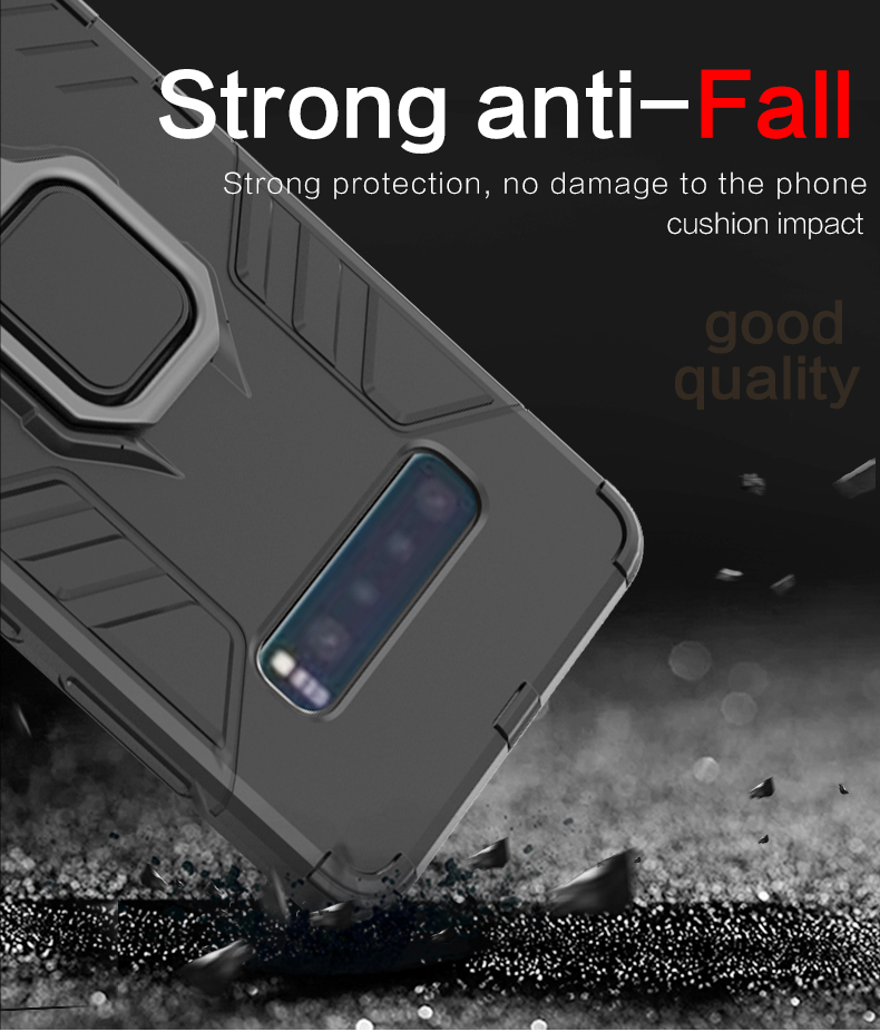 New Item Finger Ring Holder Shockproof Magnetic design back cover phone case for Samsung galaxy S10 lite /S10 /S10 plus case