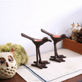 Antique table decor retro style bird iron candle holder