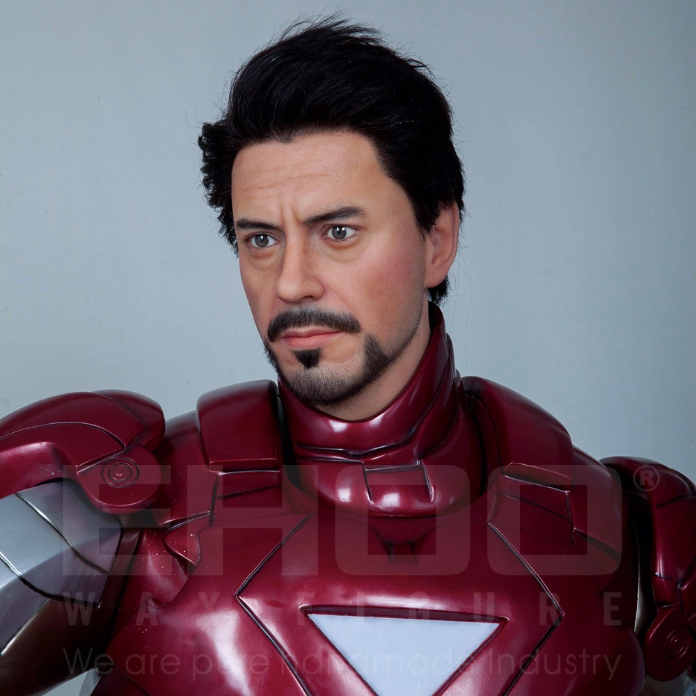 High Quality Lifesize Movie Star Iron Man Resin Sculpture for Sale