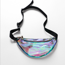 Cool fanny pack holographic PVC teenage adults weekend casual travel school waist bag,