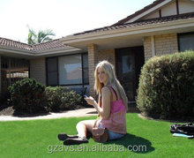 outdoor synthetic grass landscaping for decoration