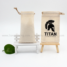 Custom Storage Usage Cotton Linen Drawstring pouch bag with logo printing for book notebook etc