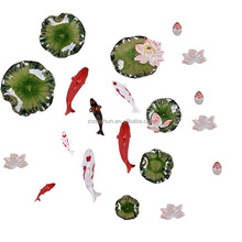 Beautiful resin fish wall art decor Polyresin fish wall decoration
