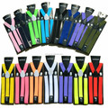 NEW 2.5cm Mens Womens Clip-on Suspenders Elastic Y-Shape Adjustable Braces