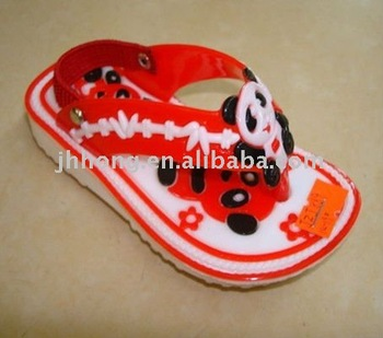 children's fancy sandal / panda cartoon sandal