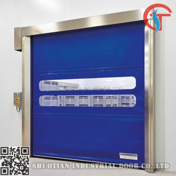 Plastic industrial fabric high speed pvc roll up door