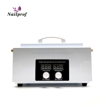 2019 Shenzhen Nailprof 300w high temperature tool sterilizer disinfection cabinet with handle and LCD display