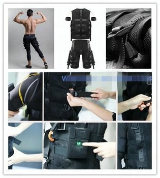 Wireless EMS fitness machines / electroestimulador muscular body training suit