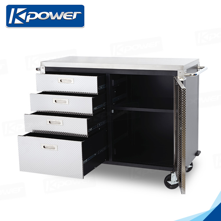 48 Inch 4 Wheels Metal Cabinet Tool Box With Top Tray