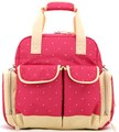 Pink 300D Baby Diaper Bag Tote with Pouch