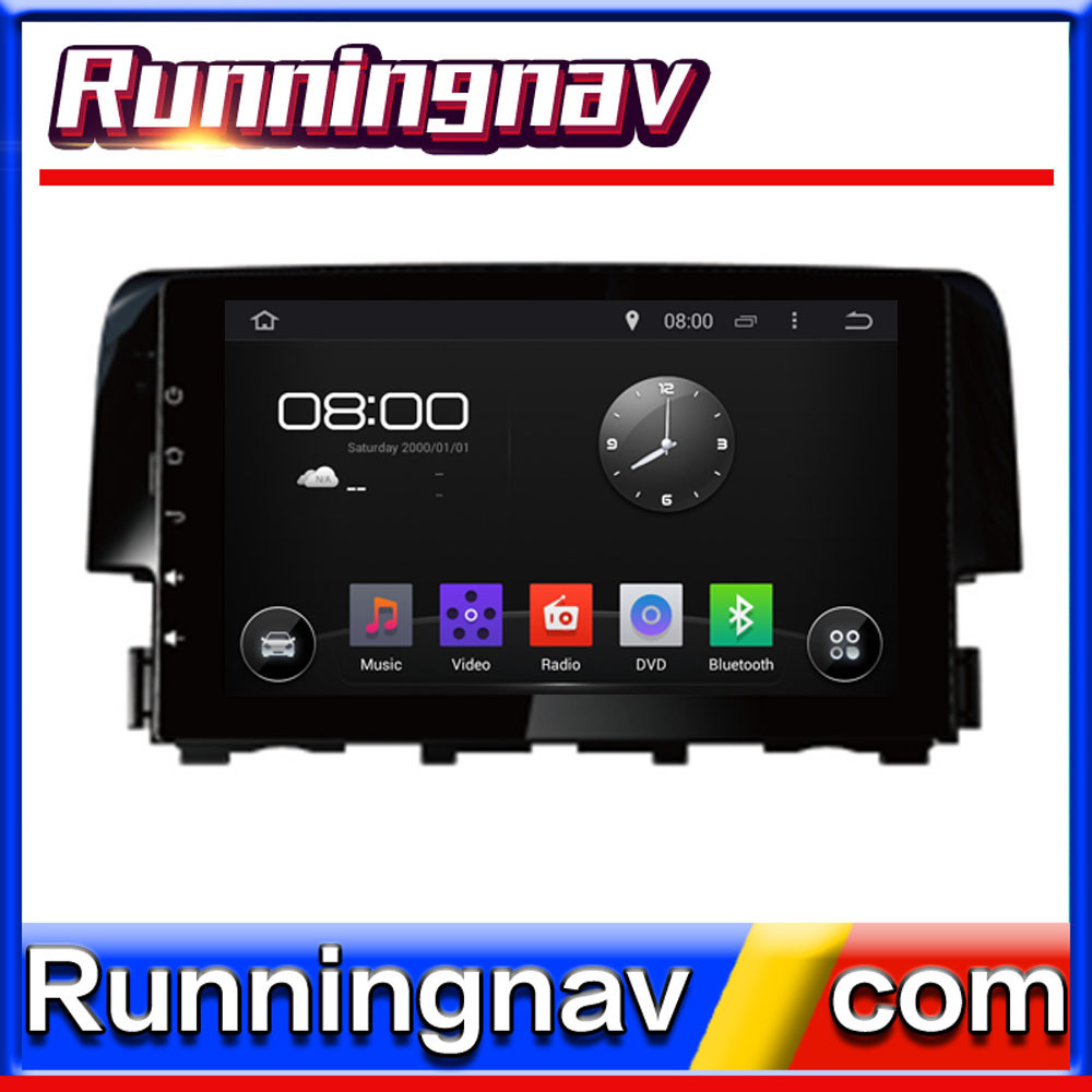 andriod system CAR Stereo DVD For Honda Civic 2016 CARS with GPS/3G/WIFI/BT/IPOD/PHONE BOOK PLAYER