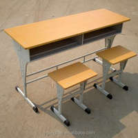 Double and single used cheap school desk and chair