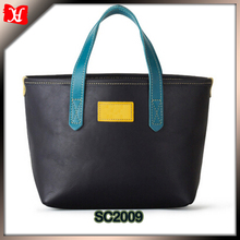 new fashion special design ladies simple top grain leather tote bag