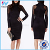 Online shopping women dress office pencil dress midi lady spring long sleeves mesh oL pencil dress