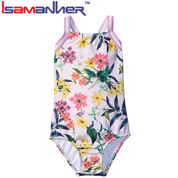 High quality kid swimwear one piece child girls bikini thong