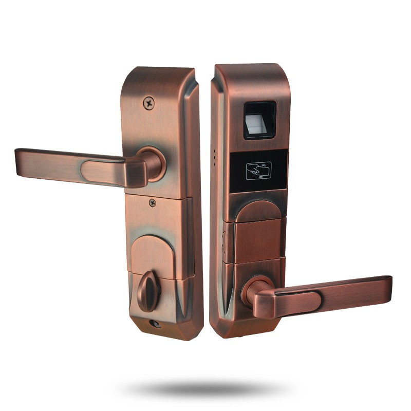 commercial frameless glass smart electric door lock