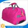 Red Wheeled Trolley Travel Bag For Woman