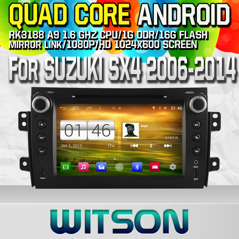 Witson S160 Android 4.4 Car DVD GPS For SUZUKI SX4 with Quad Core Rockchip 3188 1080P 16g ROM WiFi 3G Internet Font DVR
