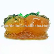 pate de verre crystal --fruit decor-- crystal orange--BJ077