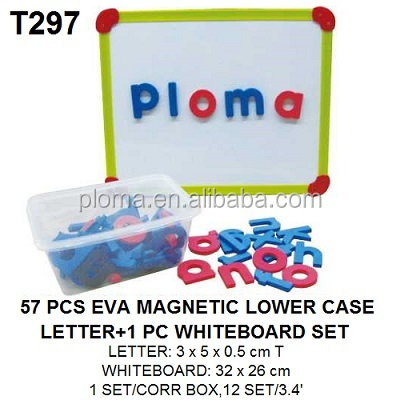 57pcs Kids Custom Alphabet EVA Foam Magnetic Lowercase Letters and 1pc Whiteboard
