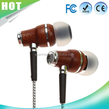 Oem colorful wood mobile for samsung/android Colors changing in ear earphones