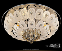 L8661-Royal style crown shaped LED hanging modern crystal ceiling light
