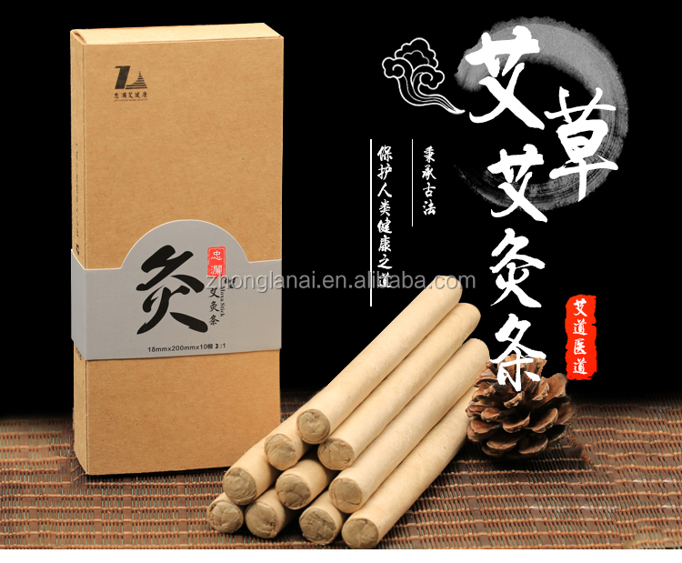 Chinese herb pure moxa roll moxibustion stick for regulating body