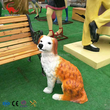 hot sale customized outdoor decoration life size animal dog statue