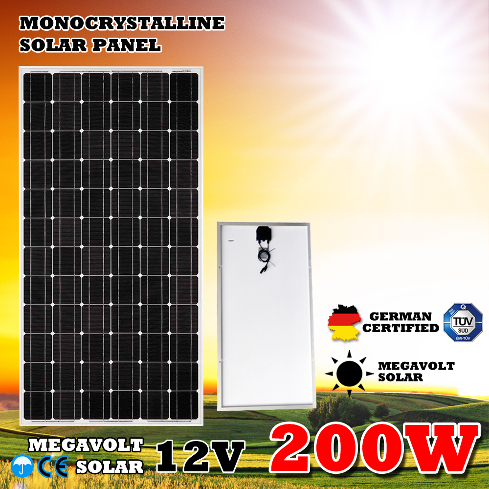 200w 12v Lite Way Full Certified China Supplier High Efficiency Cheapest Solar Panel