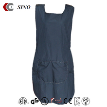Waterproof Black pinafore tablier PVC kitchen barber apron snap front cobbler apron denim Durably dirty Good wash low wholesale