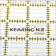 Kearing Acrylic 6.5 '' * 6.5 '' sclae square quilting rigid handicraft patchwork ruler for Patchwork sewing cut #KPR65D