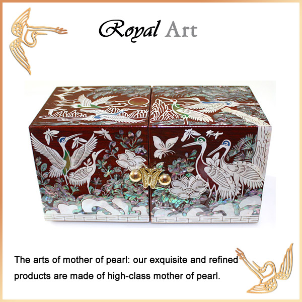 Luxury Jewelry Box with Mother of pearl inlaid; DO-1079