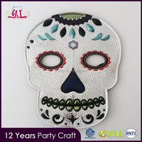 2016 Trending Products Day Of The Dead Fancy Items Party Mask By Pu Leather Fabric