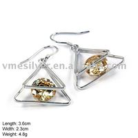 925 Silver Earring without MOQ, silver eardrop with cz (EZ-279)