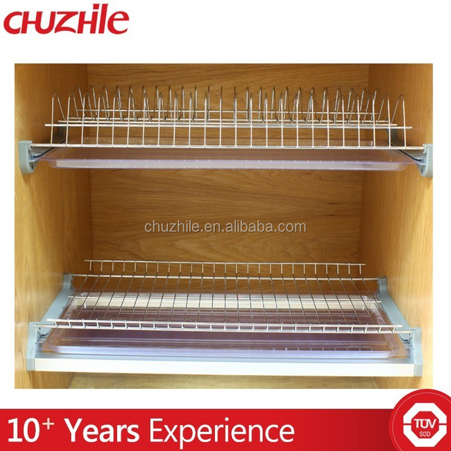 2017 China factory hot sale organizer metal wire 2 layer kitchen dish rack on stock
