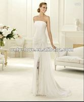simple chiffon bridal wedding dresses OLH134