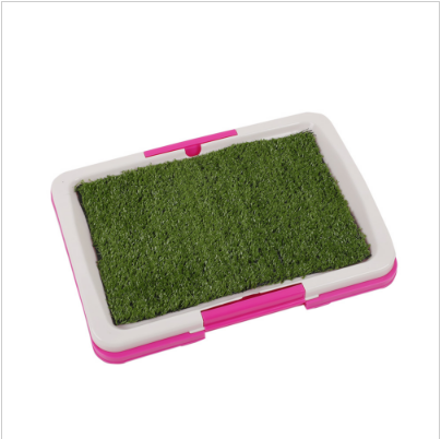 2017 hot selling Pet Puppy Toilet Urinary Trainer Grass Mat Potty Pad House Litter Tray Mascotas Cachorro