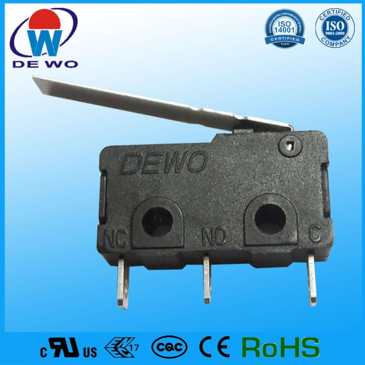 Contact switch, miniature 5a 250v 3 position micro switch for welding machine
