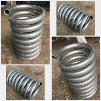 Three Roll Push Bending Galvanized Steel Round Boiler Tube