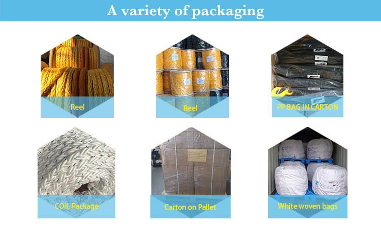 High quality 3-strand pp packaging rope