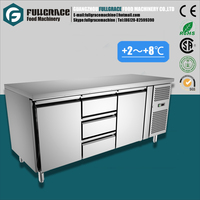 hot sale 400L restaurant refrigeration equipment, healthy food fruit refrigerator with 3 drawers and 2 door