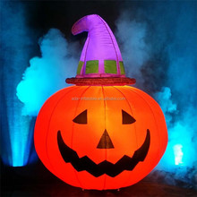 Halloween Lighting Event Decoration Inflatable Pumpkin For Stage A061
