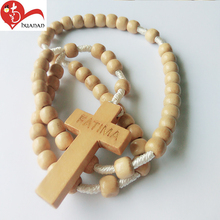 Newest top selling simple design wooden charm custom beads rosary prayer catholics