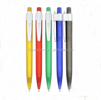 best price optional transparent color plastic advertising ballpoint pen